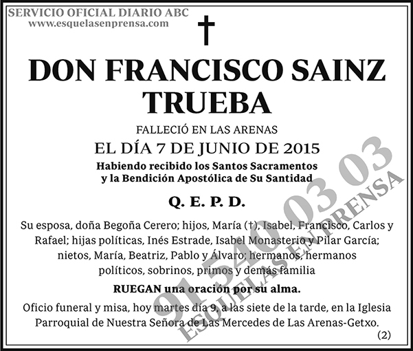 Francisco Sainz Trueba